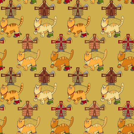 hillock: Modelo incons�til con los gatos, molinos y mouses