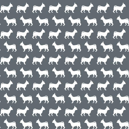 figuration: Seamless pattern with dogs silhouettes