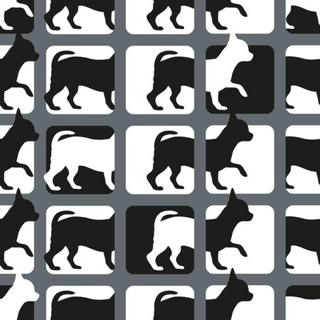 seamless: Seamless pattern with dogs