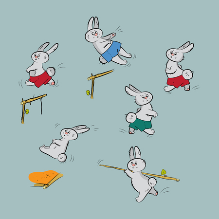 hares: Collection with different hares and sports