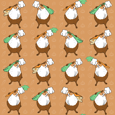 Pattern with guinea pigs