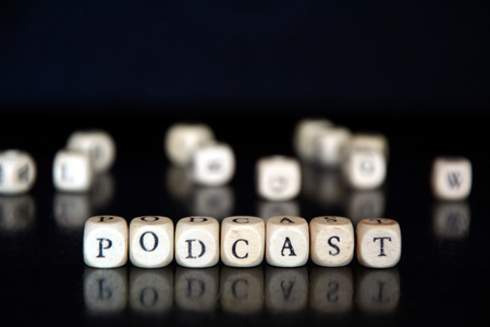 podcasting: Podcast made of letter beads