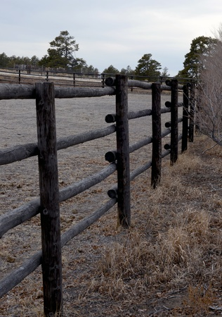 solidity: Old Fashioned Wooden Fence in the Mountains