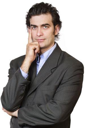40 year old man: Businessman thinking