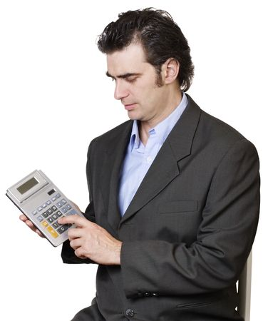 interst: Businessman calculating