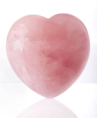 drop out: Pink crystal heart Stock Photo