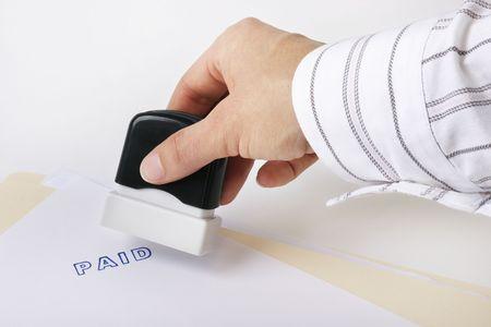 registros contables: Pagado sello