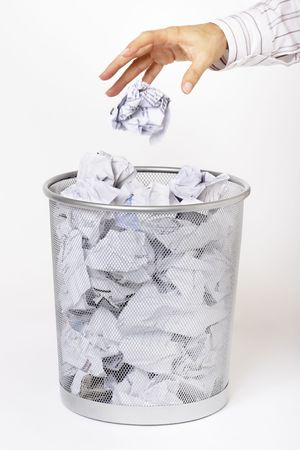 scrunched: Hit or miss Stock Photo