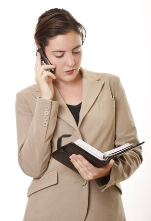 Businesswoman with diary photo