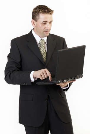 Businessman laptop 2 Stock Photo - 318570