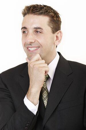 Businessman thinking 2 photo