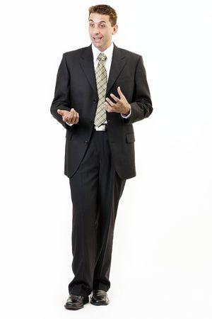 attention: Businessman portrait 5 Stock Photo