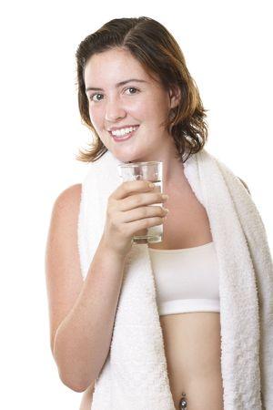 Girl drinking 2 photo