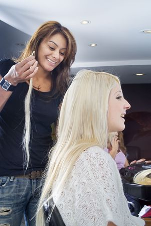 asian afro: Blond hair extensions 1