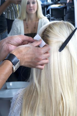 Blond hair extensions 4 photo