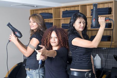 Charlies angels are hair dressers photo