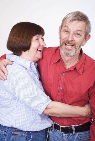 Senior couple 1, laughing photo