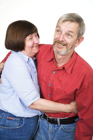 Senior couple 14, hugging Stock Photo - 440237