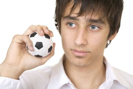 surly: Teenager dreaming of playing football