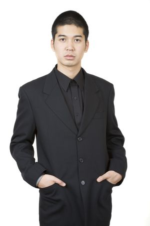 Young asian male 2, sideways Stock Photo