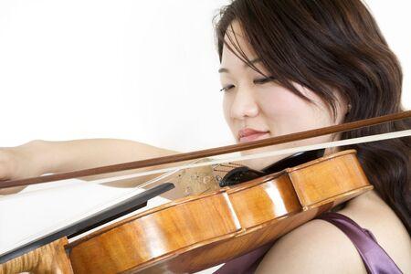 Violinist 5, side on photo