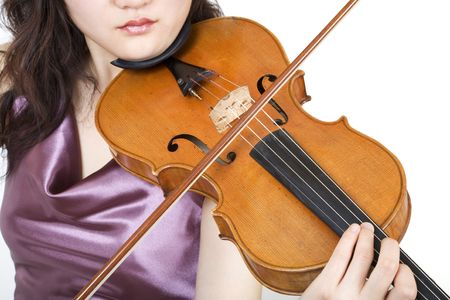 Violinist closeup 5, with lips photo
