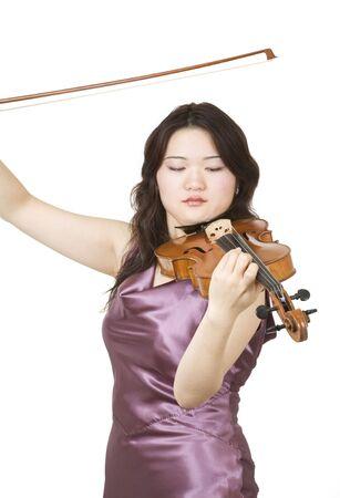 Passionate virtuoso violinist photo