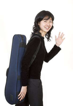 resonate: Travelling musician 2, with a violin case