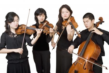 rehearsal: Quartet 3, performance Stock Photo