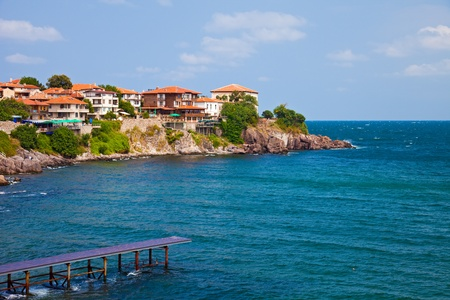 View of the Old Town part of Sozopol, Bulgaria.