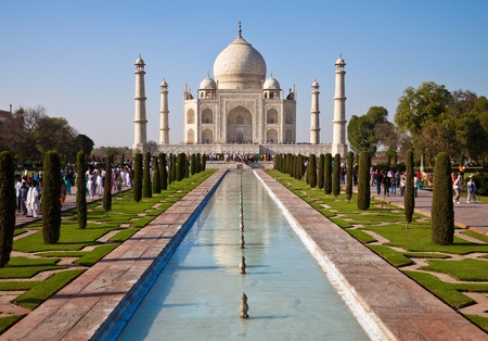 monument in india: Beautiful Taj Mahal monument in Agra, India.