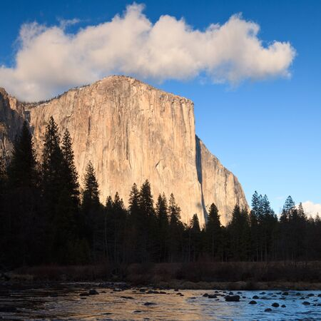 Late afternoon light on El Capitan in Yosemite National Park, California. photo