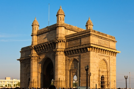 monument in india: Gateway to India in warm afternoon light, Mumbai.