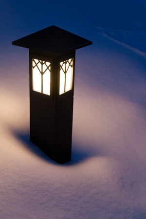 lamp shade: Light in the Snow