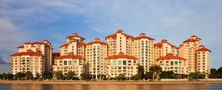apartment: Modern apartment buildings in Singapore.