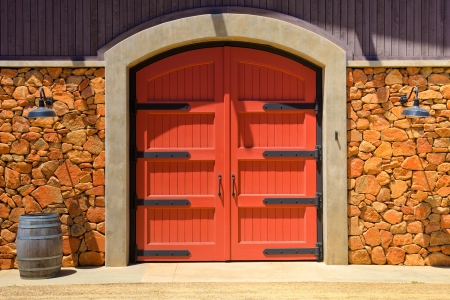 hdri: HDR image of an old winery door in California.