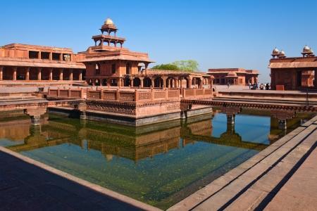 早朝の世界遺産のビュー サイト ファテープル · シークリー, インド。