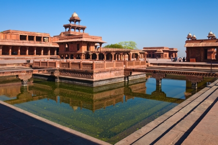 fatehpur sikri: Early morning view of World Heritage site Fatehpur Sikri, India.