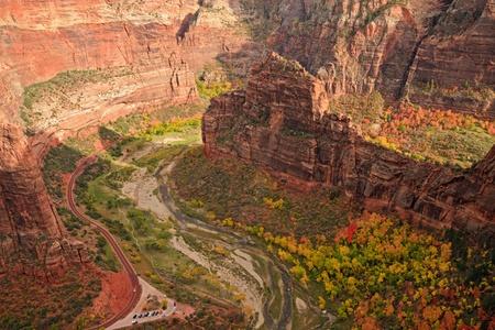 Big Bend seen form Angels Landing in Zion Canyon National Park, Utah.