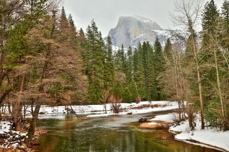 HDR image of Half Dome in Yosemite National Park, California. photo