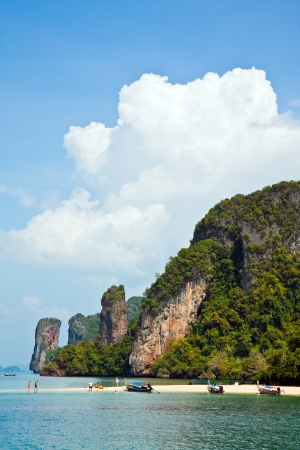 Secluded beach on a small tropical island in the Andaman Sea, Thailand. photo
