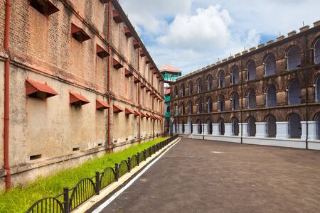 Two of the wing in the Port Blair Gaol, Andaman and Nicobar Islands, India  Stock Photo - 13761111