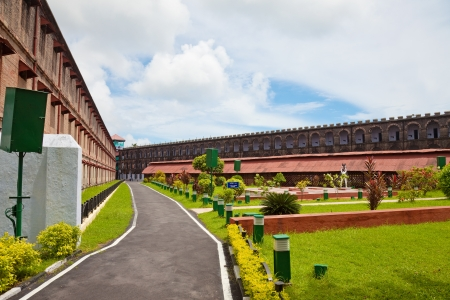 jail: Inside the yard of the Port Blair Cellular Jail, Andaman and Nicobar Islands, India  Editorial