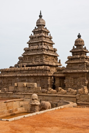Old seashore temple at Mahabalipuram, India  Stock Photo