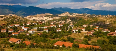 Village in the wine making region of Melnik in the Pirin mountain, Bulgaria.