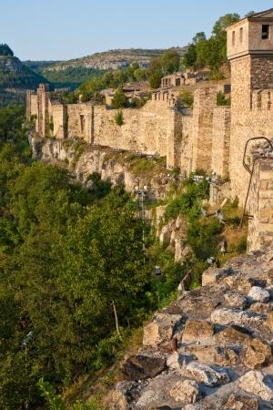 veliko: Wall sengment of the Tsarevets fortress in Veliko Turnovo, Bulgaria.