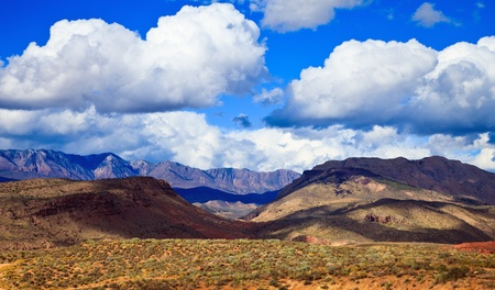 Rugged hills and mountains near Zion Canyon National Park in Utah  photo