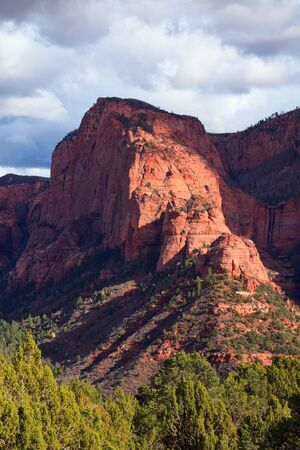 zion: Northern part of Timber Top Mountain in the Kolob Canyons section of Zion Canyon National Park, Utah
