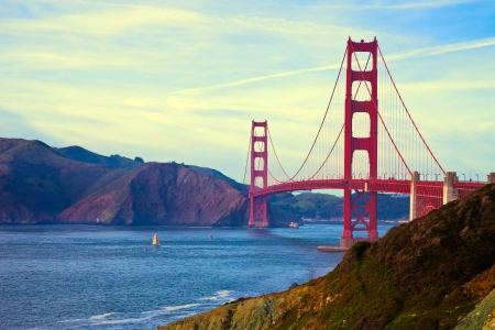 Golden Gate Bridge in San Francisco, California. photo