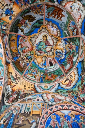 Roof dome icon in the Rila Monastery, Bulgaria.